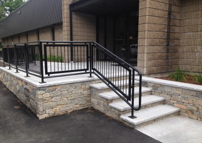 Commercial, Custom Fabrication, Residential, Entranceway, Stone steps, Custom Stone fabrication, Gleason Ineson Stone Suppliers, G.I. Stone, GI Stone, G/I Stone, New Hampshire stone, Massachusetts stone, Maine stone, Connecticut stone, Rhode Island stone, Vermont stone, New Hampshire granite, Massachusetts granite, Maine granite, Connecticut granite, Rhode Island granite, Vermont granite, Granite, Custom granite, Granite step, Stone, Stone patios, Stone driveway, Stone walkway, Natural stone, Concrete pavers, Building stone, Stone veneer, Wall stone, Veneer, Thin stone veneer, Retaining walls, Blue stone, Clay brick , Granite benches, Granite mantel, Granite post, Granite mailbox, Granite light post, Cobble stone, Cobbles, Granite edging, Granite hearths, Granite treads, Bluestone treads, Granite pavers, Pavers, River rock, Veneer, Natural stone flagging, New England field stone, Field stone, Round field stone, Granite pool coping, Bluestone pool coping, Outdoor stone fireplace, Stone fire pit, Indoor stone fireplace, Stone hearth, Granite hearth, Igneous rock, Concrete sand, Stone dust, ¾ crushed stone, 1 ½ crushed stone, Screened loam, Bark mulch Merrimack NH, Bark mulch Nashua NH, Bark mulch Bedford NH, Bark mulch NH, drafting services, Custom Stone fabrication,