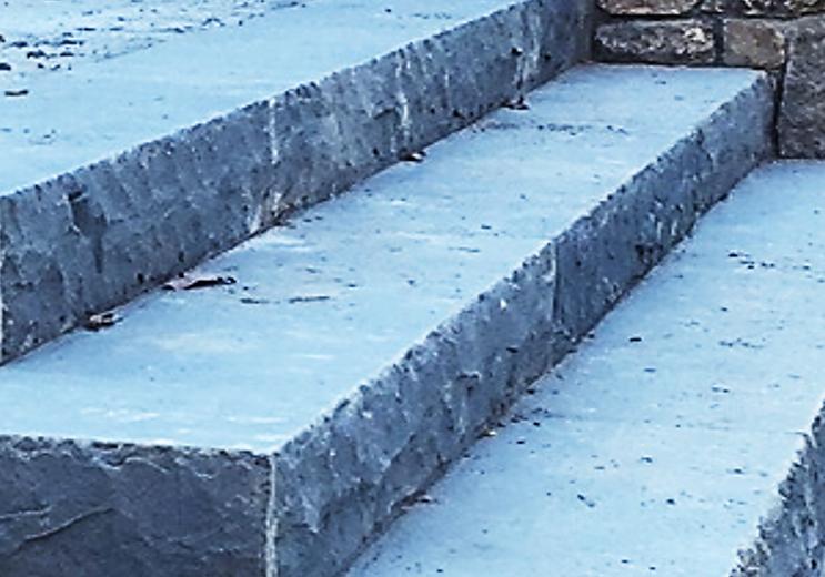 bluestone monolithic steps, Custom Fabrication, Residential, Entranceway, Stone steps, Custom Stone fabrication, Gleason Ineson Stone Suppliers, GI Stone, New Hampshire stone, Massachusetts stone, Maine stone, Connecticut stone, Rhode Island stone, Vermont stone, New Hampshire granite, Massachusetts granite, Maine granite, Connecticut granite, Rhode Island granite, Vermont granite, Granite, Custom granite, Granite step, Stone, Stone patios, Stone driveway, Stone walkway, Natural stone, Concrete pavers, Building stone, Stone veneer, Wall stone, Veneer, Thin stone veneer, Retaining walls, Blue stone, Clay brick , Granite benches, Granite mantel, Granite post, Granite mailbox, Granite light post, Cobble stone, Cobbles, Granite edging, Granite hearths, Granite treads, Bluestone treads, Granite pavers, Pavers, River rock, Veneer, Natural stone flagging, New England field stone, Field stone, Round field stone, Granite pool coping, Bluestone pool coping, Outdoor stone fireplace, Stone fire pit, Indoor stone fireplace, Stone hearth, Granite hearth, Igneous rock, Concrete sand, Stone dust, ¾ crushed stone, 1 ½ crushed stone, Screened loam, Bark mulch Merrimack NH, Bark mulch Nashua NH, Bark mulch Bedford NH, Bark mulch NH, drafting services, Custom Stone fabrication,
